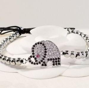 NEW Elephant Pave Color CZ Bracelet